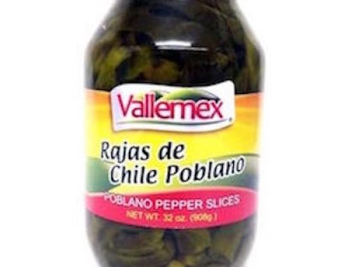 Vallemex Strips Poblano Chilli 908gr