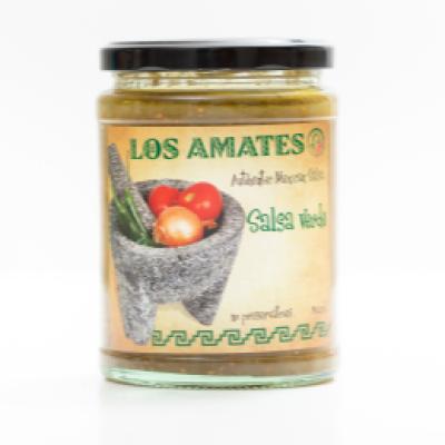 Los amates salsa verde