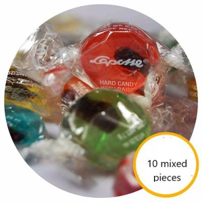 Candy with raisin Laposse