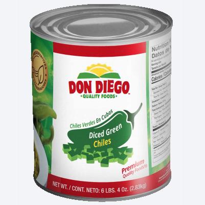 Don Diego Mild green chillies