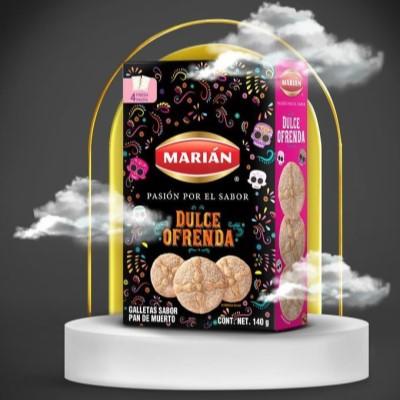 Galletas de pan de muerto Marian Day of the death biscuits 140g